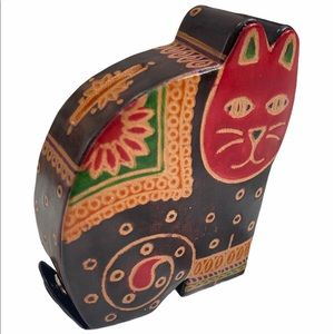 colorful Matr Boomie Cat shaped Coin Bank Purse